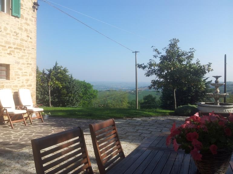 Uitzicht vanaf het terras van Casa Fontana