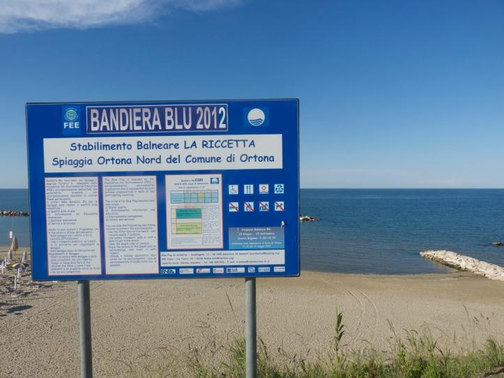 Blue flag-stranden