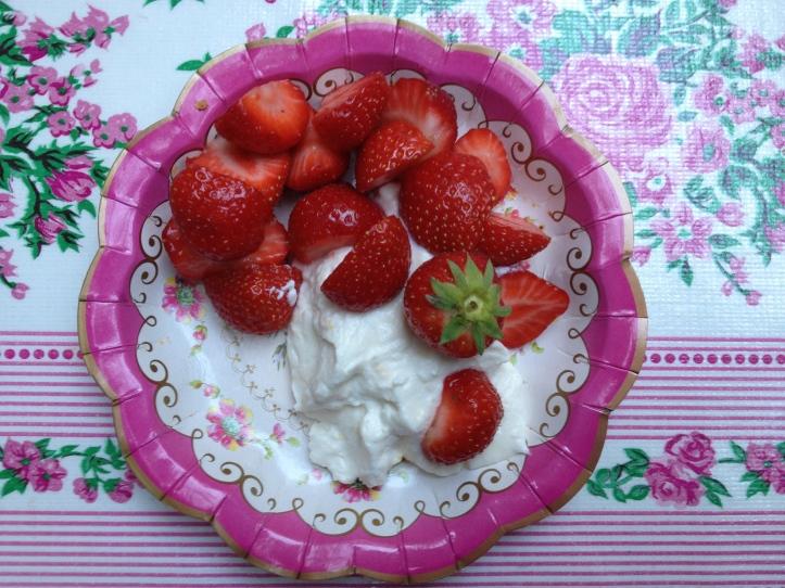 Aardbeien met ricotta