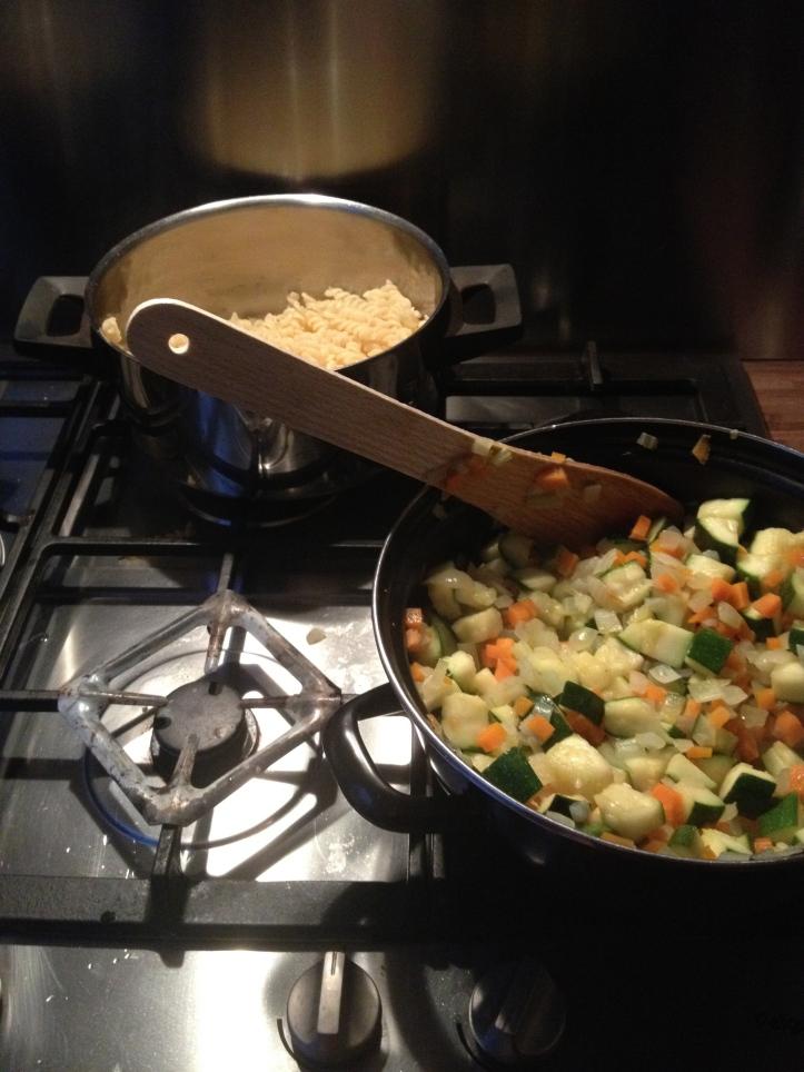 Primo: carbonara di zucchine