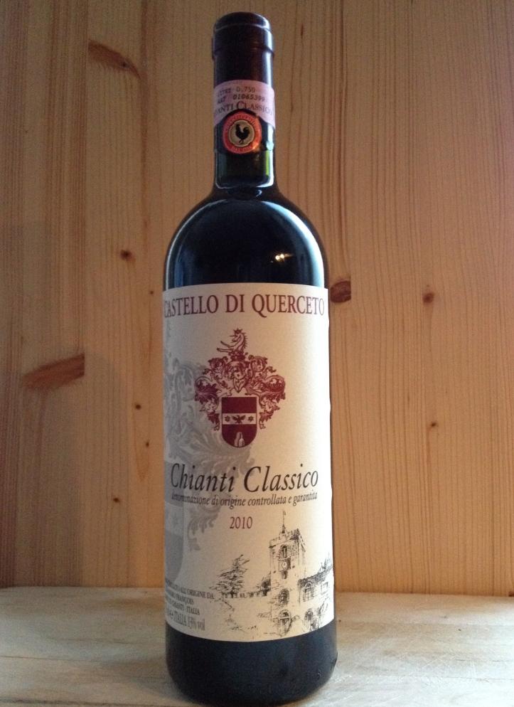 Deze chianti zat ook in mijn pakketje. Ik ben niet zo'n wijnkenner, maar heb de volgende benamingen in mijn assortiment: niet lekker, lekker en heel erg lekker. Deze vind ik heel erg lekker!