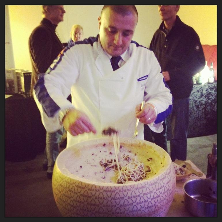 Federico maakte de hele dag de fantastische spaghetti tartufo