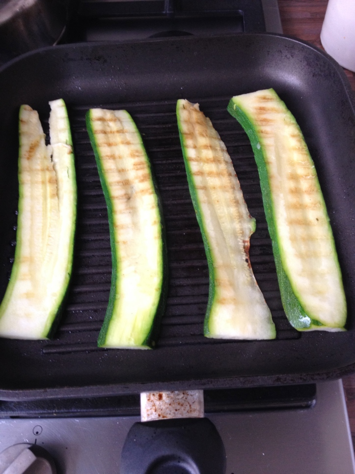 Gegrilde courgettes