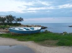 Zonsondergang met boot