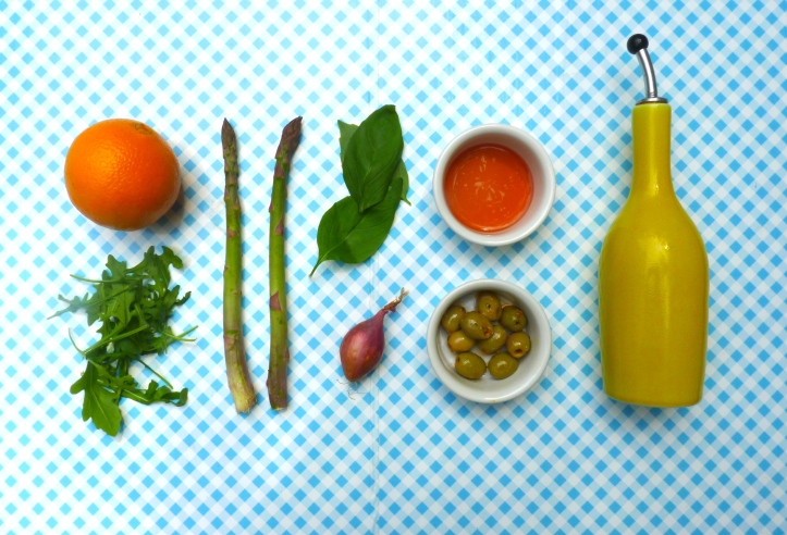 Asperge-sinaasappelsalade