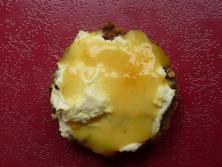 Mascarponetaartje met limoncellocurd